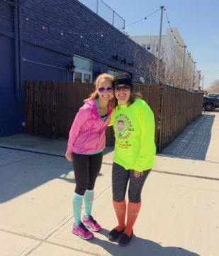 Post-run picture with Beth
